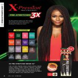 OUTRE X-PRESSION BRAID-PRE STRETCHED BRAID 42″ 3X 1B