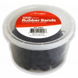 RUBBER BAND 1000 BLK WITH JAR(2/CS)2900