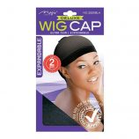STOCKING WIG CAP BLACK 2PCS36BX/PA 2225BL